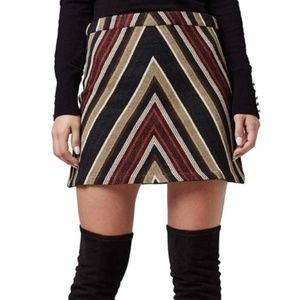 Topshop | Chevron Printed Mini Skirt